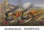 American Railroad Scene Shows...