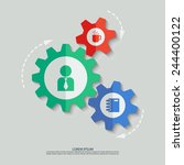 vector color cogwheels with man ... | Shutterstock .eps vector #244400122