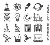 graphic set science and... | Shutterstock .eps vector #244410262