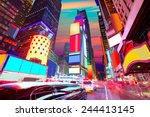 times square manhattan new york ... | Shutterstock . vector #244413145