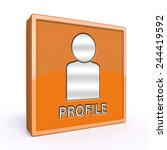 profile square icon on white... | Shutterstock . vector #244419592