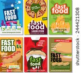 fast food placard template set  ... | Shutterstock .eps vector #244421308