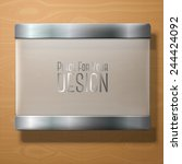 vector frosted glass plate with ... | Shutterstock .eps vector #244424092