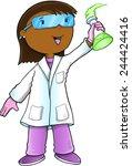 scientist doctor vector... | Shutterstock .eps vector #244424416