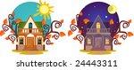 lovely small house. | Shutterstock .eps vector #24443311