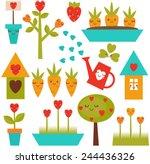 set of garden tools | Shutterstock .eps vector #244436326