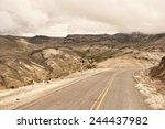 a peruvian roadway near... | Shutterstock . vector #244437982