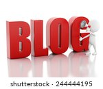 3d illustration. white man with ...   Shutterstock . vector #244444195