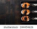 Salmon And Caviar On Elegant...
