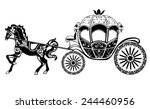 Horse Carriage Silhouette With...