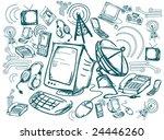 communication doodles   vector   Shutterstock .eps vector #24446260