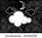 Night Sky Doodles   Vector