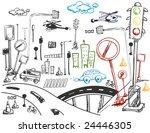 urban doodles   vector | Shutterstock .eps vector #24446305