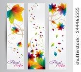 rainbow floral art   Shutterstock .eps vector #244465555