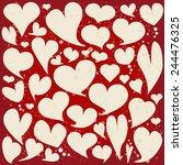 collection of heart speech... | Shutterstock .eps vector #244476325