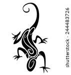 black silhouette   lizard... | Shutterstock .eps vector #244483726