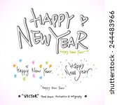 hand drawn greeting    vector   ...   Shutterstock .eps vector #244483966