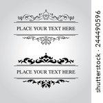 decorative frame. decorative... | Shutterstock .eps vector #244490596