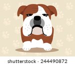 cute dog sitting   vector set... | Shutterstock .eps vector #244490872