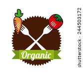 organic food design  vector... | Shutterstock .eps vector #244503172