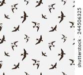 swallows. seamless pattern....   Shutterstock .eps vector #244506325