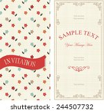 set of invitations with... | Shutterstock .eps vector #244507732