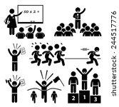 top student at school best... | Shutterstock . vector #244517776