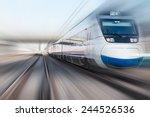 high speed train  | Shutterstock . vector #244526536
