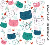 bear pattern | Shutterstock .eps vector #244529905