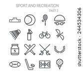 set of simple icons for sport ...   Shutterstock .eps vector #244534306