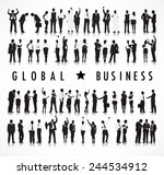 silhouettes of business people... | Shutterstock .eps vector #244534912