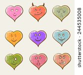 colorful set of different...   Shutterstock .eps vector #244535008