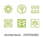vector ecology logo templates | Shutterstock .eps vector #244536382