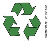 stylized recycle sign in green... | Shutterstock .eps vector #24454582