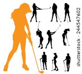 Vector Silhouette Of A Woman...