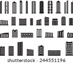 set of futuristic buildings... | Shutterstock .eps vector #244551196