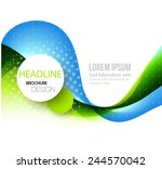 abstract template brochure... | Shutterstock .eps vector #244570042