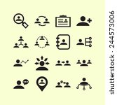 set of simple icons for... | Shutterstock .eps vector #244573006