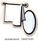 illustration mirror and wash... | Shutterstock .eps vector #24457435