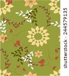 seamless vector floral pattern. ... | Shutterstock .eps vector #244579135