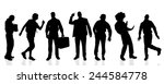 vector silhouettes of different ... | Shutterstock .eps vector #244584778