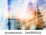 buildings abstract background | Shutterstock . vector #244590532