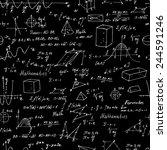 Постер, плакат: Math Seamless pattern with