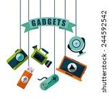 gadgets tech design  vector