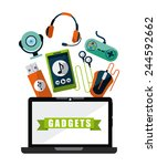 gadgets tech design  vector... | Shutterstock .eps vector #244592662