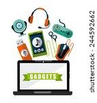 gadgets tech design  vector... | Shutterstock .eps vector #244592662