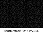luxury black poker background... | Shutterstock .eps vector #244597816