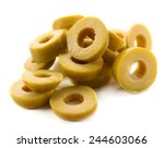 Cut Olive Rings Isolated On...