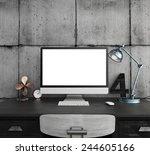 3d rendering of  workspace | Shutterstock . vector #244605166