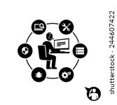 technical support operator... | Shutterstock .eps vector #244607422